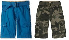 Levis Boys West Coast Cargo Shorts Belted Relaxed Cotton Kids size 10 12 18 NEW