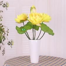 Artificial Water Lily Flowers Silk Bouquet Home Table Vase Decor DIY 6 Color