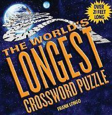 World's Longest Crossword Puzzle Book by Frank Longo (2005,Hardcover) New Sealed
