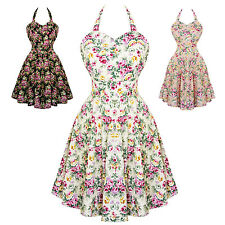 Dolly & Dotty Cynthia Floral Retro Vintage 1950s Style Party Prom Swing Dress UK