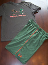 Boys Lot Under Armour Heat Gear 14-16 Youth Large XL Lot Athletic Shorts & Shirt