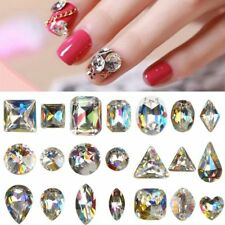 10 pcs/bag Glitter 3D Rhinestone Nail Art Strass Crystal Nail Design Decoration