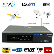Digital HD MPEG-4 DVB-S2 Satellite Receiver + USA Free Local ATSC Combo TV Tuner