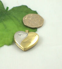 Sassi SL1024 Sterling Silver & 18ct Gold Plated Diamond Set Heart FAMILY Locket