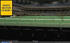 2 Houston Texans at New Orleans Saints preseason tickets in sec 116 row 1