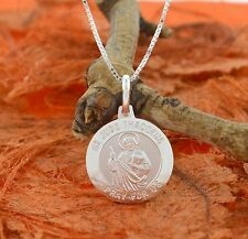 St. Jude Thaddeus Medal -Sterling Silver- Catholic,Charm Pendant,Religious,Gift