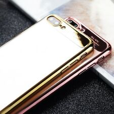 Ultra-thin Clear Plating Frame Hard PC Back Cover Case For iPhone 6 6S 7 Plus M