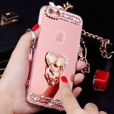 Luxury Mirror Bling Diamond Ring Holder Stand Case Cover For Various Mobile M