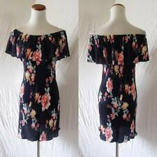 NEW NAVY Off The SHOULDER Mexican Floral PEASANT Prairie RUFFLE Festival DRESS