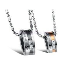 """""""Love You Till the End"""" 316L Stainless Steel Couples Pendant Necklace Lover Gift"""