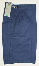 """M&S Mens Collection Cargo Army Combat Pure Cotton Shorts Blue BNWT Size 36"""""""