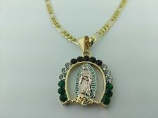 Virgin Of Guadalupe HorseShoe Pendant charm with necklace, Virgen de Guadalupe