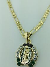 Virgin Of Guadalupe Horse Shoe Pendant charm with necklace, Virgen de Guadalupe