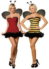 NEW Lady Bug Bumble Bee DELUXE ADULT BUGGIN OUT REVERSIBLE COSTUME W/ WINGS