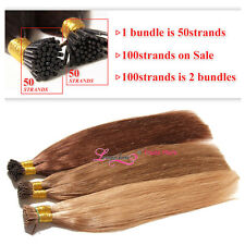 Pre-Bonded Keratin I Tip Fusion Remy Malaysian Human Hair Extension 7A wholesale