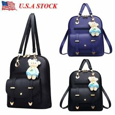 Fashion Women Girl School PU Leather Shoulder Bag Backpack Travel Rucksack Purse