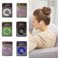 Mini Mirror Clip USB Digital Mp3 Music Player Support 8GB SD TF Card + Earphone
