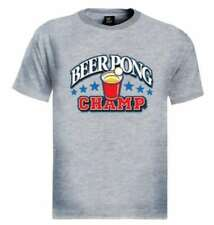 Beer Pong Champ T-Shirt college game drinking drunk party cup ball usa