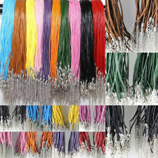 10/100pcs Wholesale Real Leather Cord Necklace With Lobster Clasp 2mm