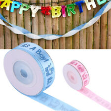 10Yards/Roll Girl/Boy Baby Shower Christening Party Favor Gift Stain Ribbon DH