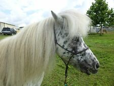 "Miniature Horse Adult size 3/16"" rope Halter"