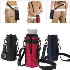 1000/600ML Water Bottle Carrier Insulated Cover Bag Pouch Holder Shoulder Strap