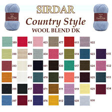 Sirdar F021 Country Style DK 50g Double Knitting Wool Yarn - ALL COLOURS