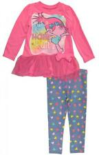 Trolls Toddler Girls Pink Tutu Tunic 2pc Printed Legging Set Set Size 2T 3T 4T