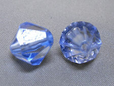 12mm 30/50/100/200pcs CLEAR BLUE FACETED ACRYLIC PLASTIC BICONE BEADS TY2945