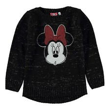 Girls Kids Official Disney Minnie Mouse Knitted Jumper