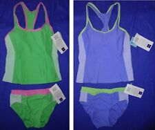 NWT Cazimi athletic RACERBACK TANKINI top 8 HIGH WAIST bottoms 6 swimsuit WOMENS