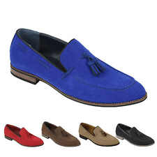Mens Suede Leather Line Tassel Loafers Vintage Smart Retro Slip on Driving Shoes