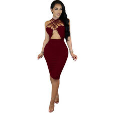 Summer Bandage Bodycon Sleeveless Dress Every Party Cocktail Clubwear Sexy Women