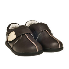 Little Blue Lamb Boys/Girls  Brown Leather Shoes