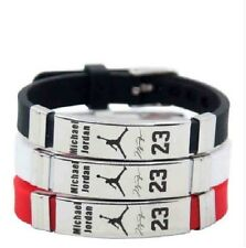 Michael Jordan Basketball Bracelet Silicone Stainless Steel adjustable Wristband