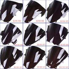 Black Windshield WindScreen Double Bubble For Suzuki GSXR600 750 1000 GSXR750F