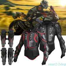 Motorcycle Full Body Armor Jacket Spine Chest Protection Gear S M L XL 2XL 3XL