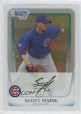 2011 Bowman Chrome Prospects Refractor #BCP206 Scott Maine Chicago Cubs Card