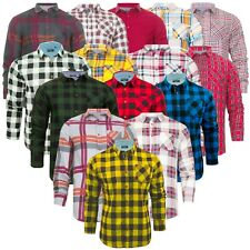 Mens Check Shirt Brave Soul Flannel Brushed Cotton Jack Long Sleeve Casual Shirt