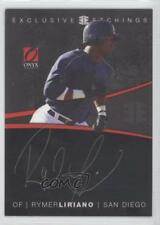 2012 Onyx Platinum Prospects Exclusive Etchings Gold Ink #EE4 Rymer Liriano Auto