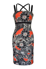 Jane Norman Floral Cross Strap Bodycon Dress Ladies NEW