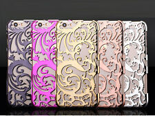 Artistic Carving Hollow Flower Plating Case For iphone 7 Plus 6 6s 5 5s SE Plast