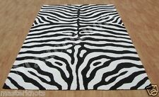 Zebra White Black Handmade Tufted 100% Wool Soft Area Rug Carpet RUGS EDH