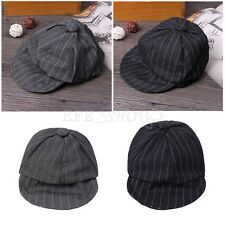 Baby Boys Striped Beret Duck Bill Hat Kids Gentleman Newsboy Irish Cap Sun Hat