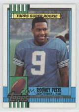 1990 Topps With Disclaimer #351 Rodney Peete Detroit Lions Football Card