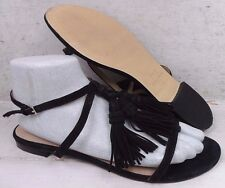 Marc Fisher LTD Womens Crystal Tassel Black Ankle Strap Sandals Shoes size 10 M