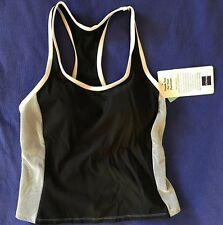 NWT Cazimi athletic RACERBACK razor back TANKINI TOP ONLY 8 swimsuit top WOMENS