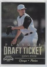 2011 Playoff Contenders Draft Tickets DT21 Tony Zych Chicago Cubs White Sox Card