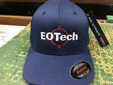 EOTech Logo Embroidered Flexfit Ball Cap Hat Navy Blue, Black or Olive Green