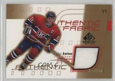 2001-02 SP Game Used Edition Authentic Fabric Gold #AF-SK Saku Koivu Hockey Card